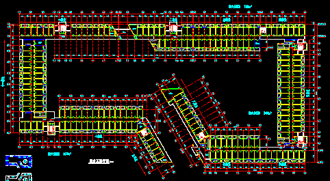 宿舍楼建筑各层平面图