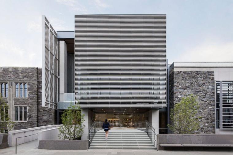 哥特式学术建筑普林斯顿大学校园外部实景图