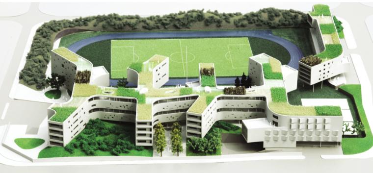[北京]高层小清新风格万科中学建筑设计方案文本