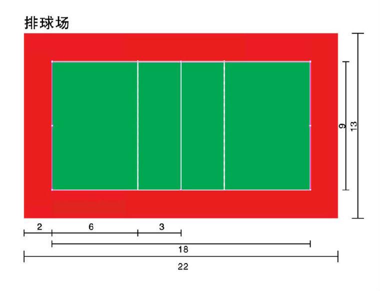 景观设计常用室外运动场地标准尺寸_7