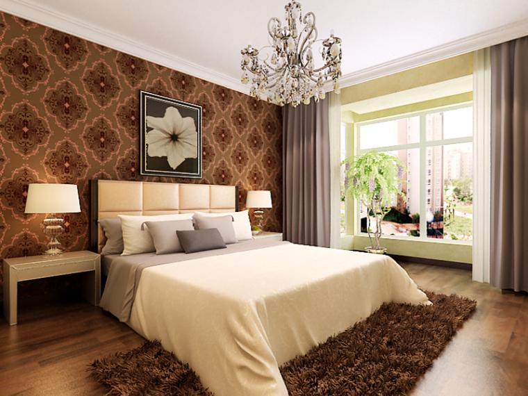 现代简欧卧室3D模型下载