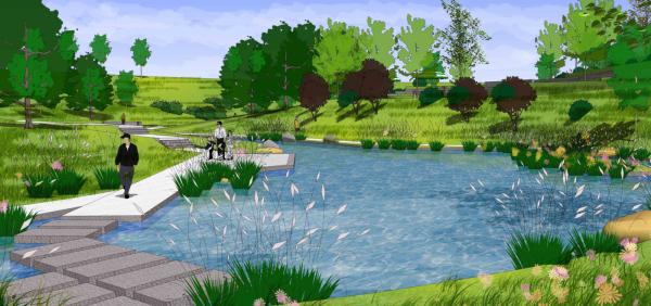[重庆]小清新生态休闲体育公园景观设计方案