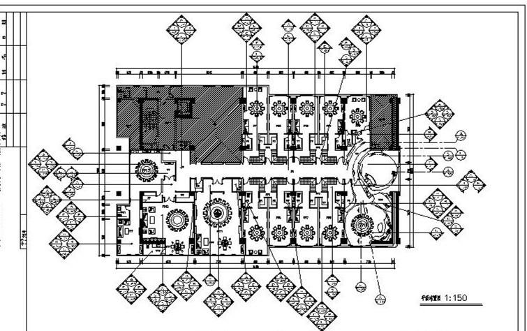 混搭风格的餐厅设计施工图(含效果图)