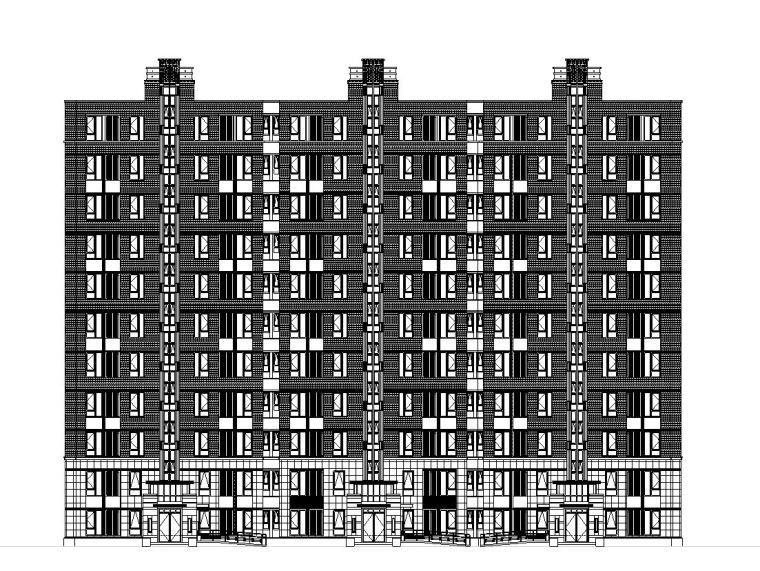 [上海]乐都欧陆风格居住区建筑施工图设计(CAD)