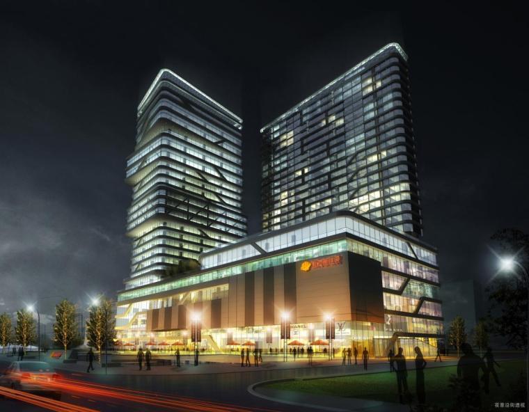 [河北]超高层连续线条立面办公综合体建筑设计方案文本