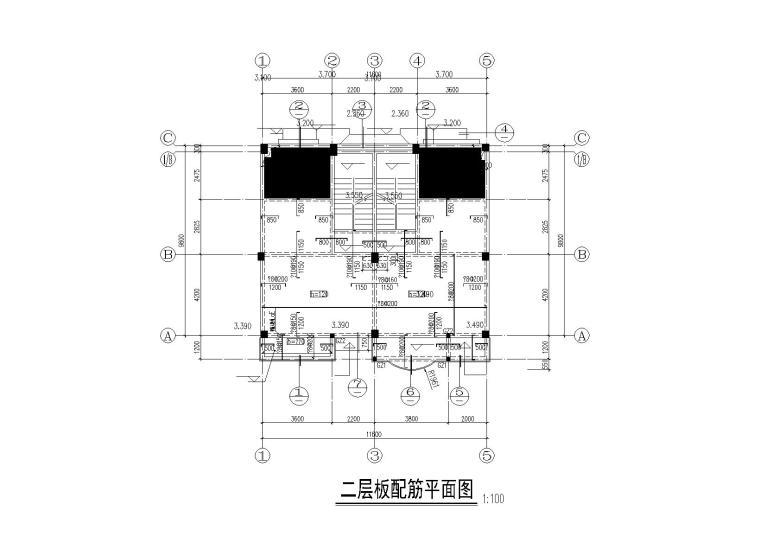 3层框架结构别墅建筑结构施工图2013