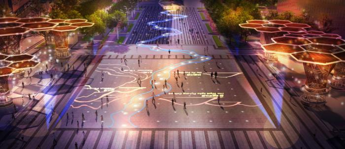 [湖南]休闲文化中心广场园林景观设计方案