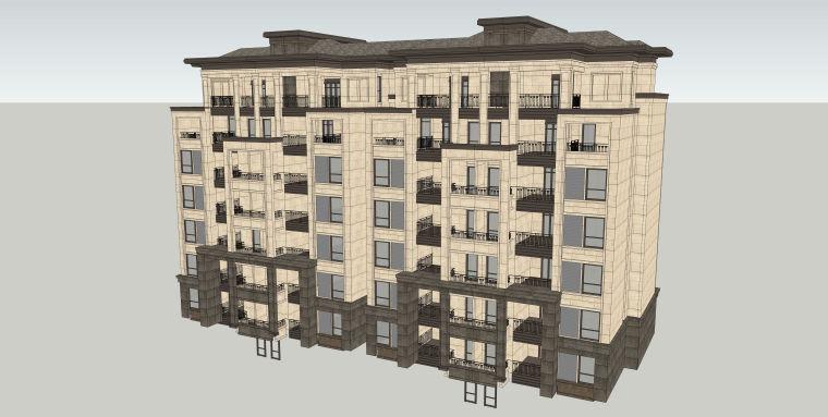 欧式住宅建筑SU模型