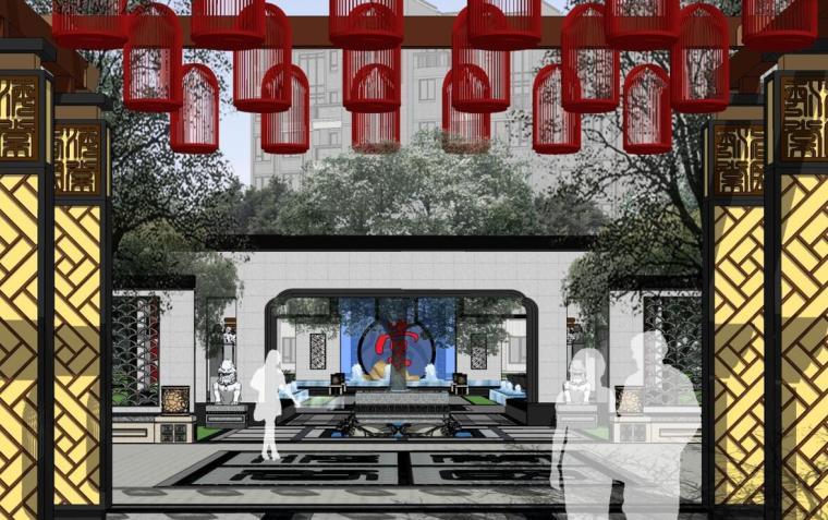 [重庆]新中式风格居住区景观方案汇报文本(PPT+54页)
