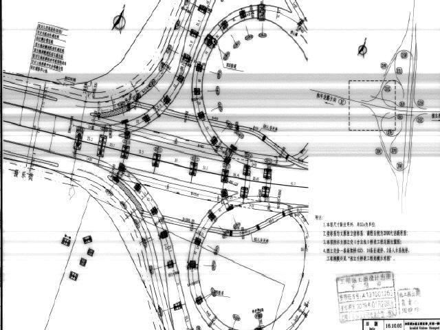 2016年1条高架桥10条匝道立交及1条高架桥6条匝道立交工程图纸2610页(钢箱梁现浇梁)