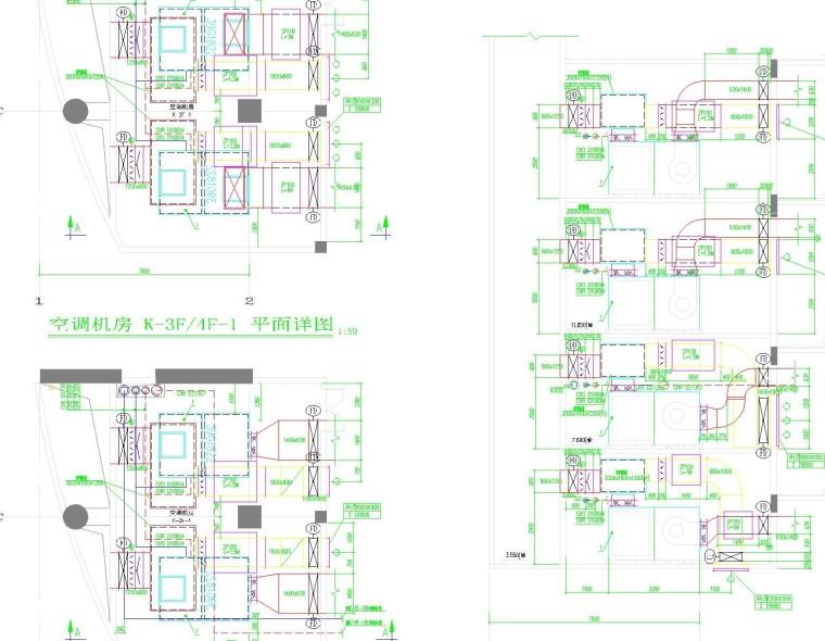 商业广场空调通风设计施工图(全面,暖通设计必看)