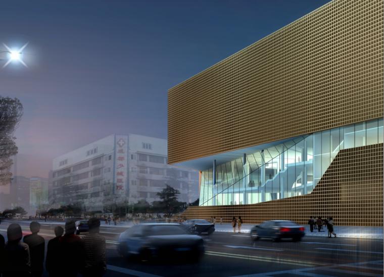 四川图书馆建筑全套方案文本+CAD+效果图