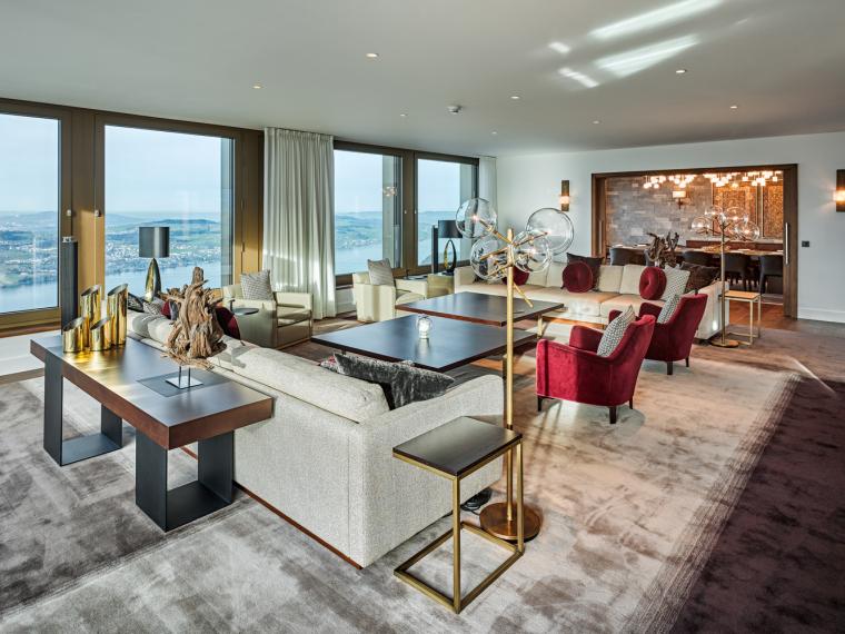 瑞士布尔根施托克酒店-Penthouse-Roger_Frei