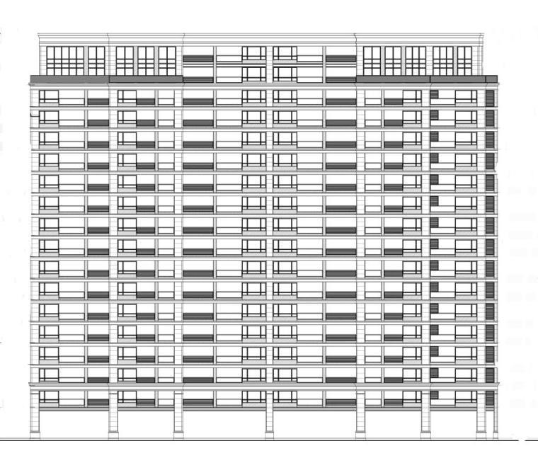 [江西]欧陆风格居住区建筑施工图设计(CAD)