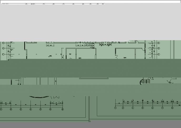5套商务办公楼建筑设计施工图CAD-现代高层办公综合建筑设计平面图