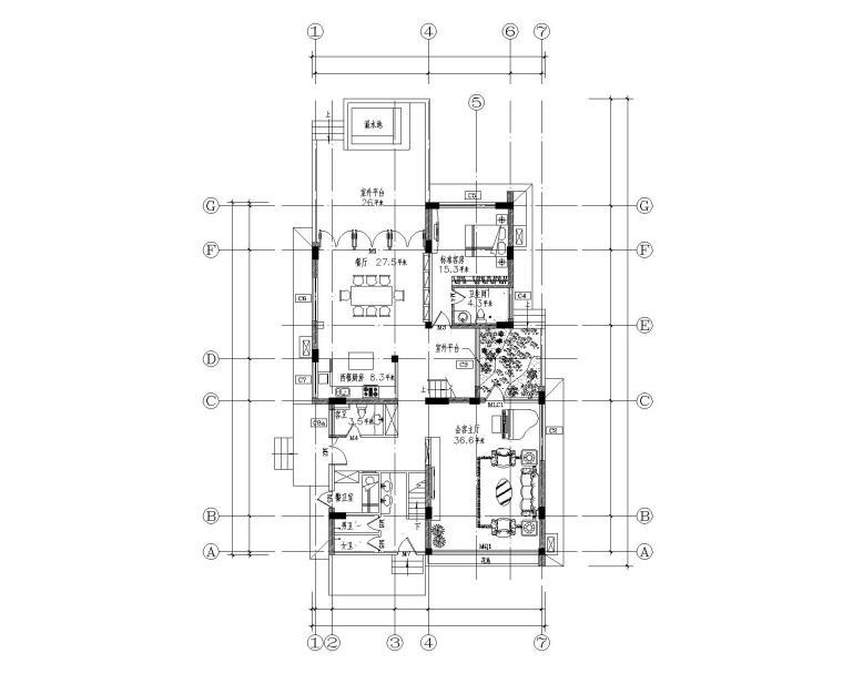 [福建]某古典别墅施工图及效果图
