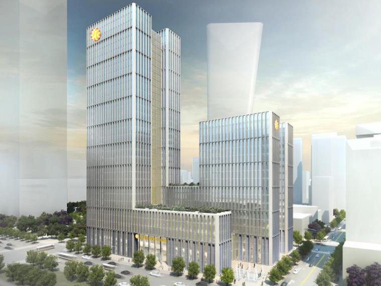 VIVO总部设计方案文本资料下载-GMP:宁波银行总部大厦设计方案文本