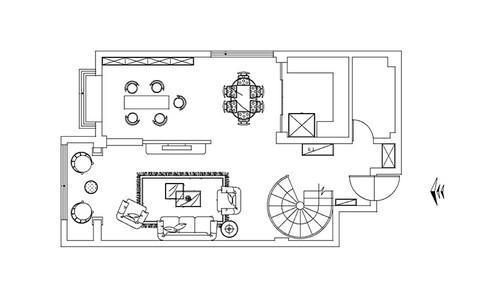 欧式墙壁su模型下载资料下载-朴拙与优雅  欧式复式空间