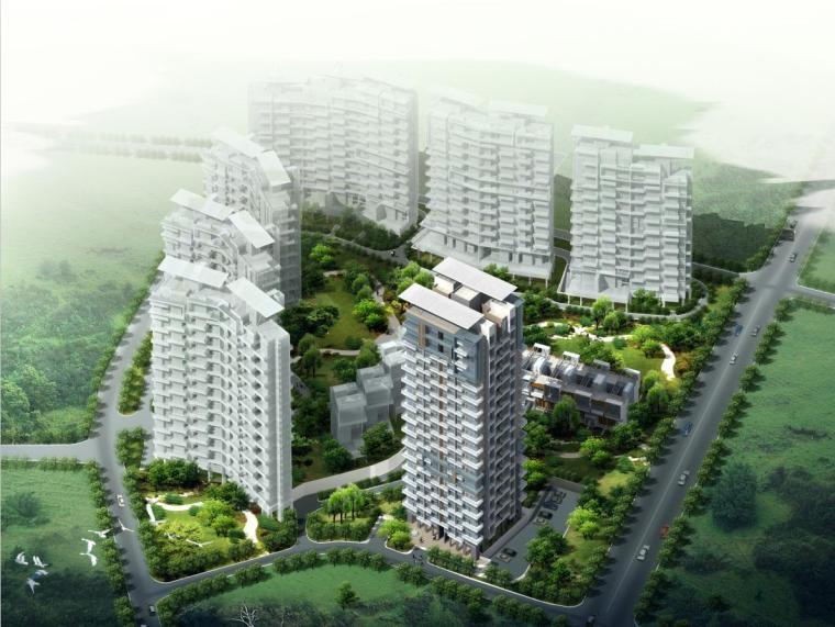 [深圳]高层现代风格退台式住宅建筑设计方案文本(含CAD)