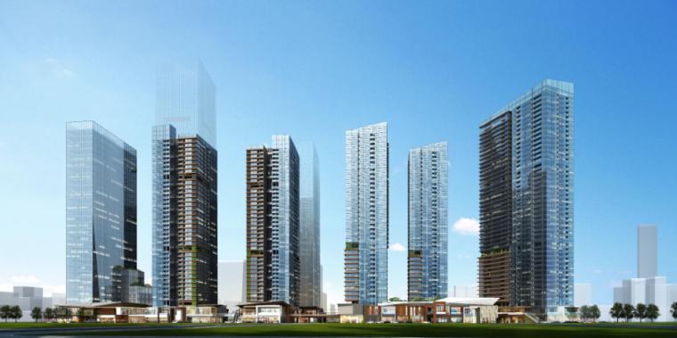 [深圳]超高层呢方案塔物流中心建筑设计双子文cad2014云点插件图片