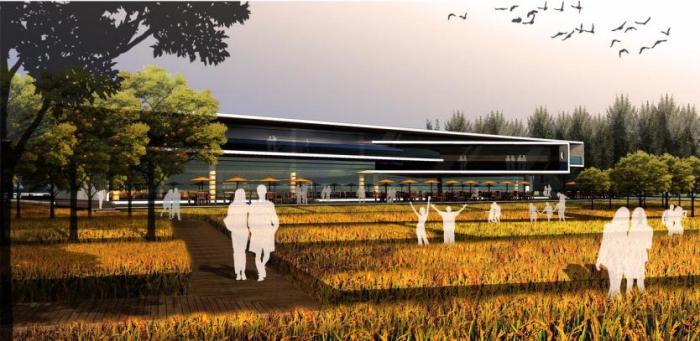 [上海]湿地台地田园景观农业观光园旅游度假村景观规划设计-景观效果图9