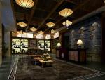 中式办公空间会客区3D模型