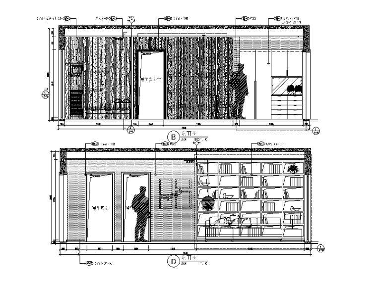 现代简约风格样板间设计施工图(含效果图)_3
