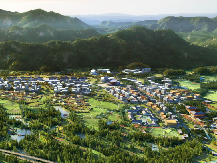 [安徽]国际小镇区域整体规划及南组团城市设计