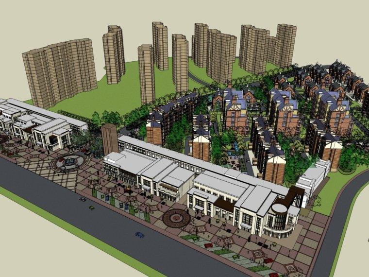 新古典商业街特色英式别墅方案设计.skp