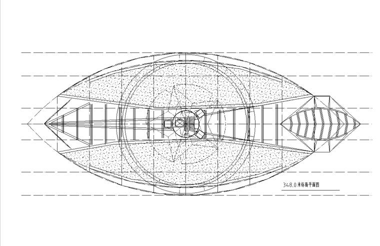 火箭型观光塔建筑设计方案初设图CAD-4