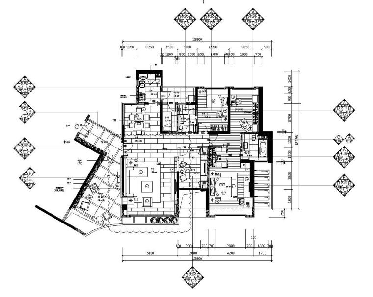 深圳浅水湾后现代风格住宅施工图设计(附实景照片)