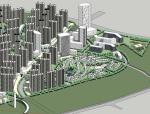 现代高层居住区规划设计SU模型