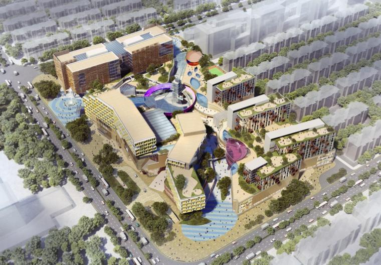 [山东]青岛国际金融中心商业综合体建筑设计方案文本