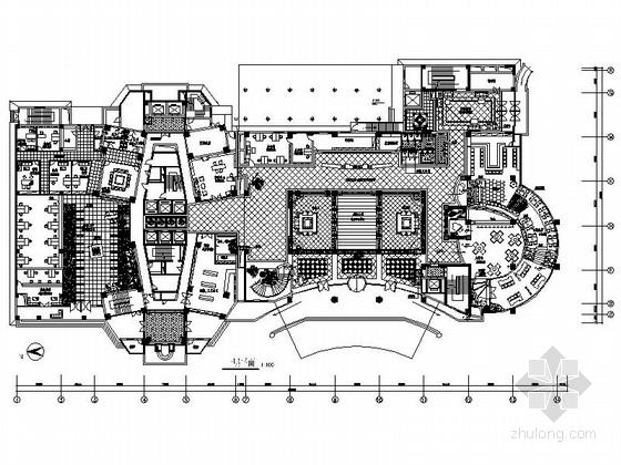 [成都]天籁地域高档五星级独特酒店设计CAD装修图