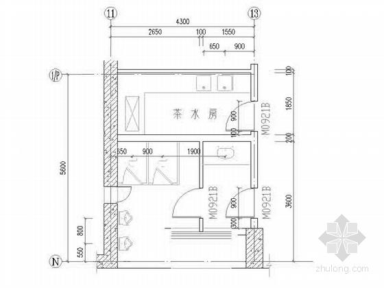[深圳]25层现代风格办公大厦建筑设计施工图(知名设计院含效果图)-25层现代风格办公大厦建筑设计楼梯节点图
