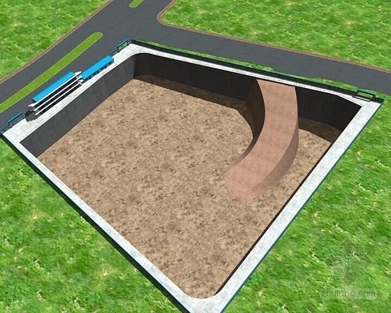 [广西]大面积超深基坑土方开挖、抗浮锚杆及基础施工方案(附丰富效果图)