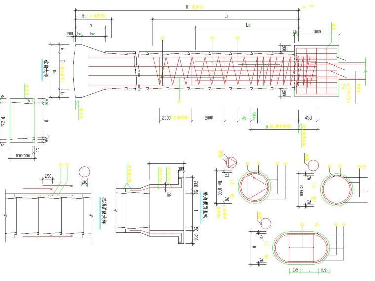 [湖南]食堂人工挖孔扩底灌注桩基础施工图