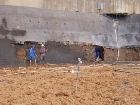 [内蒙古]地下车库基坑放坡开挖土钉喷锚支护施工方案