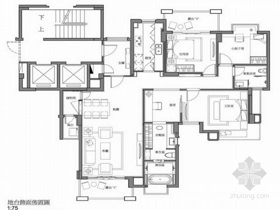 [北京]现代简约145平米室内全套概念文本效果图