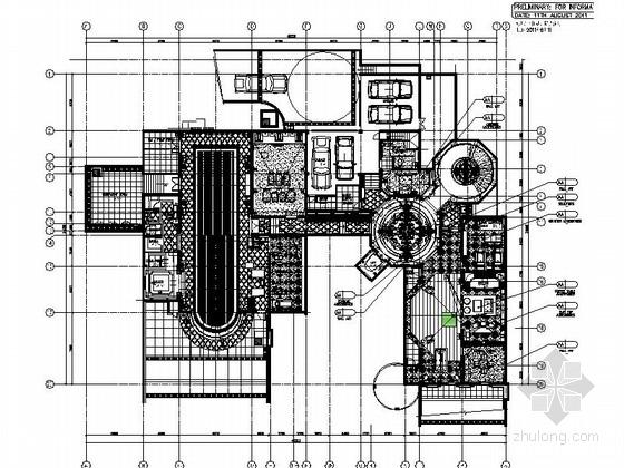 [浙江]豪华欧式私家总裁别墅设计CAD施工图(含效果)