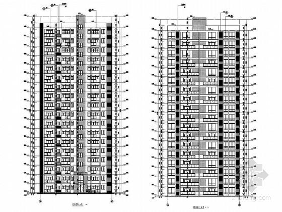 [重庆]4069平18层剪力墙结构大学教职工住宅结构施工图(含建筑图)