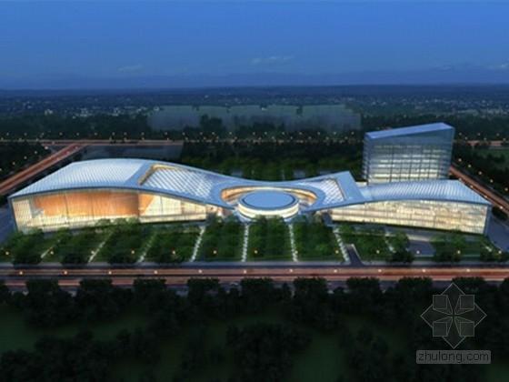 [四川]大底盘地下室框架与框剪结构大型文化体育中心结构施工图(网架结构屋面)