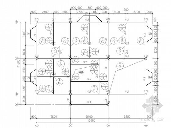 两层钢框架别墅结构施工图(含建施)