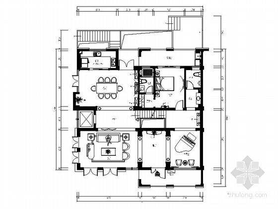 [福州]超经典高端欧式四层别墅设计CAD装修图(含效果)