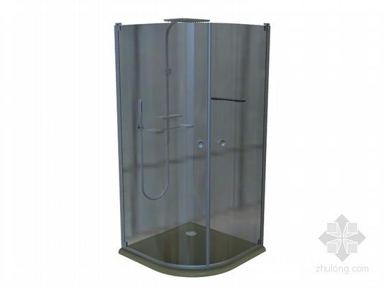 简洁玻璃浴室3D模型下载