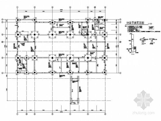 [江苏]四层框架结构资源交易中心结构图(含pkpm计算简图)
