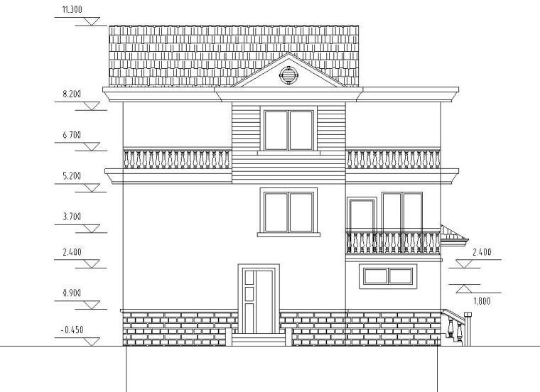 [广东]简单实用的新型小别墅建筑设计施工图