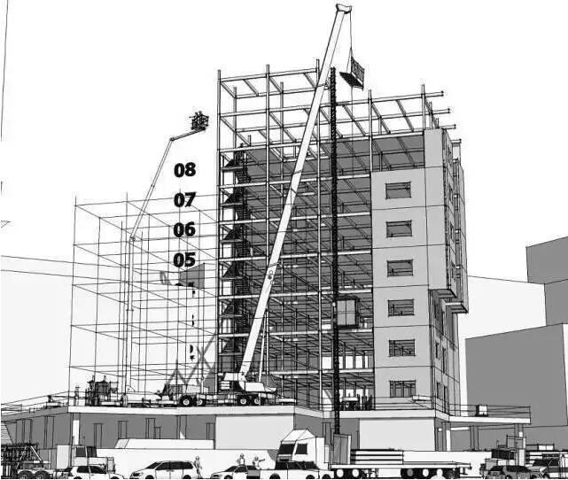内环整体提升+外环分段吊装综合施工方案