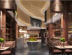 面包咖啡厅设计方案效果图(含3D模型,材质,光域网)