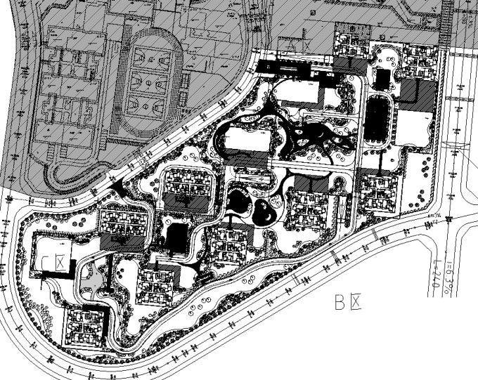 [重庆]生态组团式公租房景观设计全套施工图(园建+绿化+水电)_1
